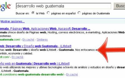 En desarrollo web, seo y marketing online somos los primeros para Guatemala!