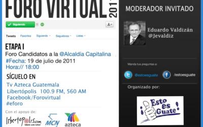 Foro Virtual Candidatos a la Alcaldía Capitalina