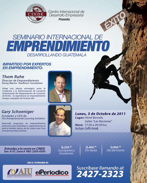 Seminario Internacional de Emprendimiento: Desarrollando Guatemala