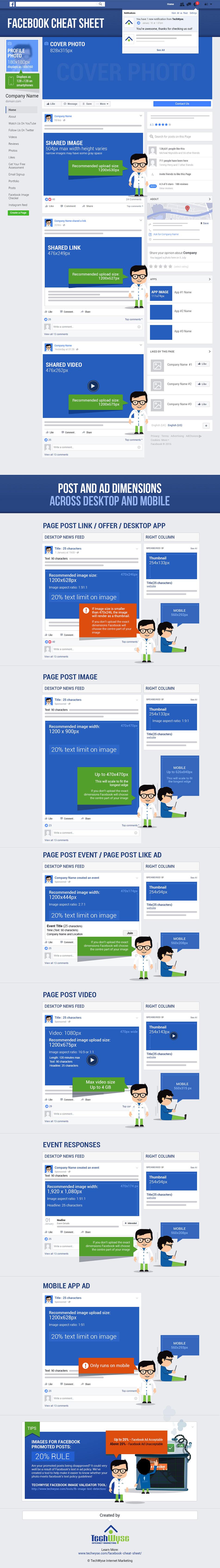 tamaño de imágenes para Facebook