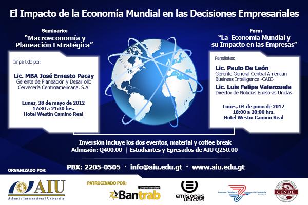 Seminario el impacto de la economía mundial en las decisiones empresariales
