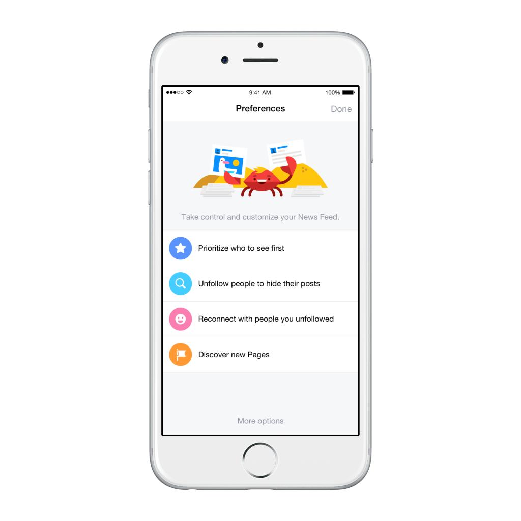 Toma de pantalla de nuevo cambio en iOS