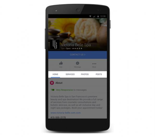 Nuevas secciones de Facebook para empresas
