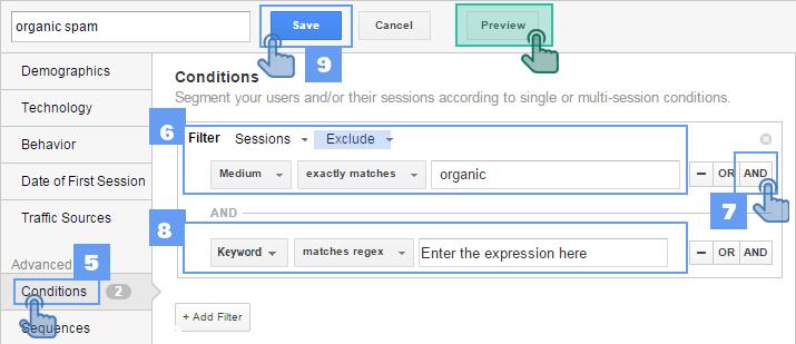 Remove-organic-spam-with-Segments-Google-Analytics
