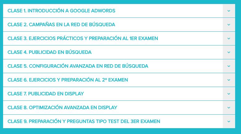 Curso Online de Adwords para la certificacion de Googlek