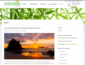 Blog Cocoon Hotel