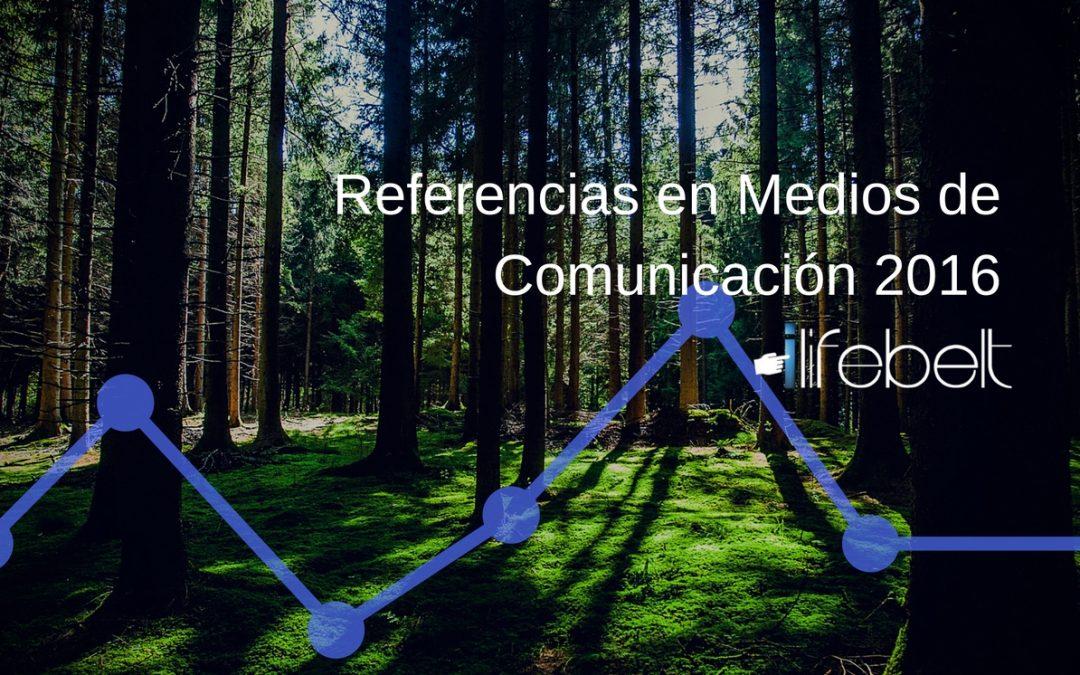 Referencias en medios sobre iLifebelt, Redes Sociales en Centroamérica y el Caribe 2016