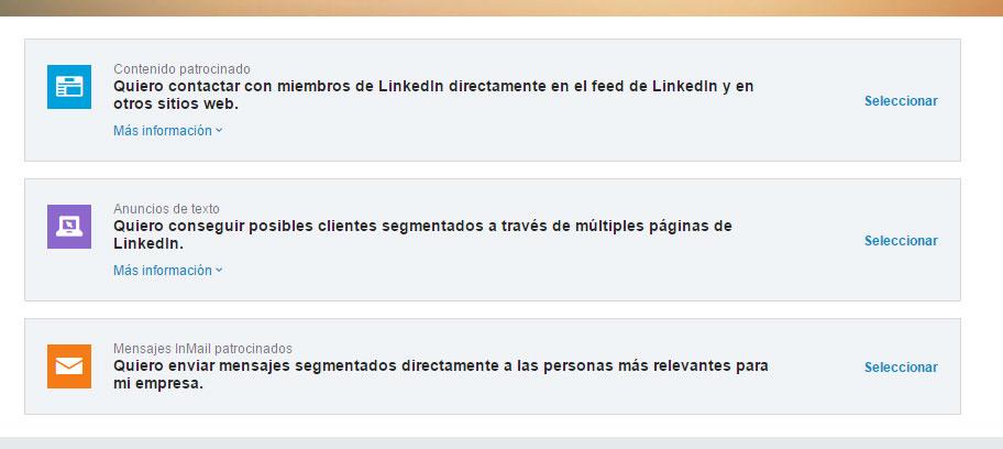 campañas publicitarias en LinkedIn