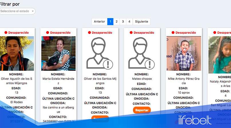 Plataforma digital para reportar desaparecidos en el Volcán de Fuego