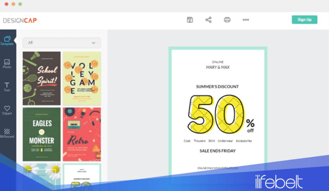 Designcap una aplicación para diseñar en línea